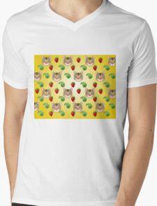 Cat Vector Mens V-Neck T-Shirt