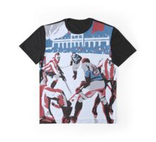 Retro style Ice hockey red white blue Graphic T-Shirt