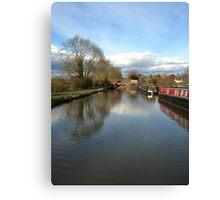 narrowboat  water Canvas Print