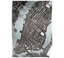 Abstract Map of Manhattan  Poster