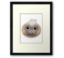 Kawaii Sloth Framed Print
