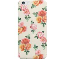 Retro Peach and Pink Roses iPhone Case/Skin