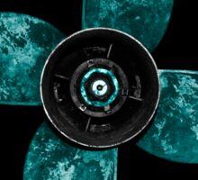 Propeller - Teal Sticker