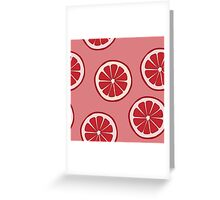 Pattern with grapefruit  Greeting Card