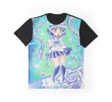 Sailor Mercury Colored Pencil Graphic T-Shirt