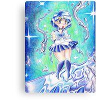 Sailor Mercury Colored Pencil Canvas Print