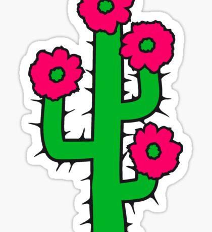 beautiful flower blossoms large desert cactus spines Sticker