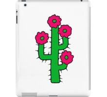beautiful flower blossoms large desert cactus spines iPad Case/Skin