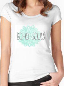 BOHO SOULS Women's Fitted Scoop T-Shirt