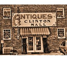"""Antiques, Clinton Mall,  #3""... prints and products Photographic Print"