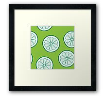 Pattern with limes Framed Print
