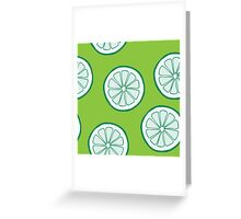 Pattern with limes Greeting Card