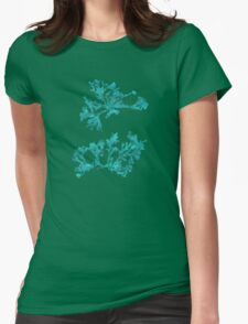 Blue Seaweed Plant Art  Womens Fitted T-Shirt