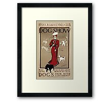 Artist Posters Mascoutah Kennel Club dog show Dogs from both continents Geo Ford Morris 01 0296 Framed Print