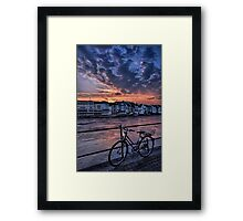 A Sunset Cycle by The Rhine  Framed Print