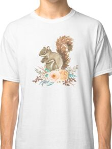 Woodland Floral Squirrel  Classic T-Shirt