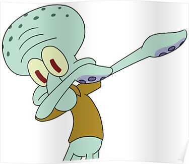 Quot Squidward Dab Quot Posters By Meganbxiley Redbubble