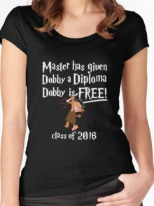 Dobby Graduation 2016 Women's Fitted Scoop T-Shirt