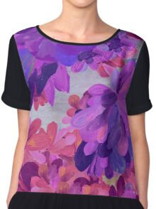 purple garden Chiffon Top
