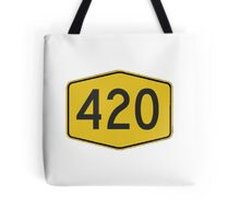 420 Road Sign Tote Bag