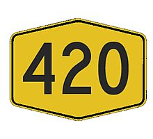 420 Road Sign Photographic Print