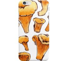 Watercolor Chanterelles Pattern iPhone Case/Skin