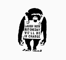 Banksy Monkey Qoute  Women's Fitted Scoop T-Shirt