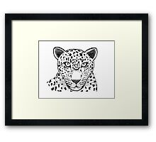 Snow Leopard by Ivy's Art Framed Print