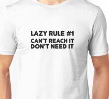 Lazy Humour Funny Joke Comedy Weed Stoner Cool  Unisex T-Shirt