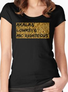 Akala & Lowkey & Mic Righteous UK music (T-shirt, Phone Case & more) Women's Fitted Scoop T-Shirt