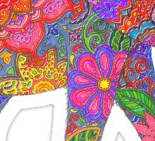 Psychedelic Elephant Sticker