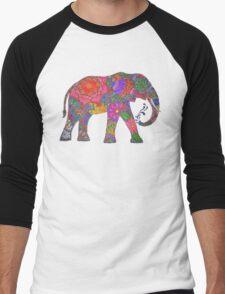 Psychedelic Elephant Men's Baseball ¾ T-Shirt
