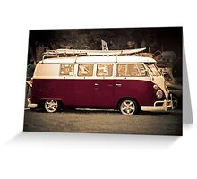Camper van Surfs up Greeting Card