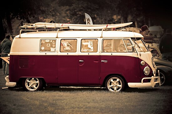 Camper van Surfs up by Martyn Franklin