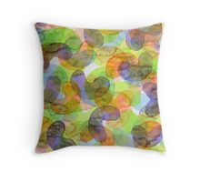 Purple Orange Green Croissants Throw Pillow