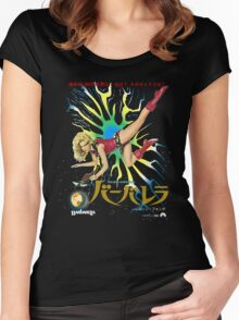 Barbarella Retro Movie Poster - Japanese Edition Women's Fitted Scoop T-Shirt