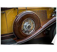 Auburn 12 Spare Tire Poster