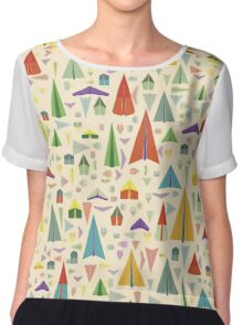 Paper Airplane 60 Chiffon Top