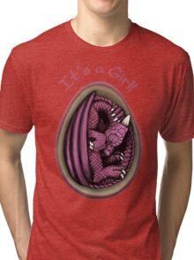 Dragon Egg - It's a Girl Gender Reveal Tri-blend T-Shirt