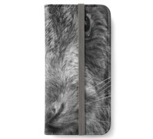 Mad as a March Hare (mono) iPhone Wallet/Case/Skin