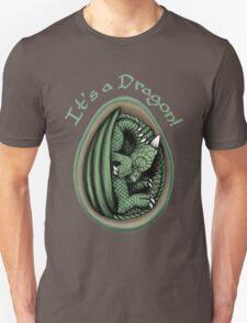 Dragon Egg - It's a Dragon Gender Reveal Joke Green T-Shirt
