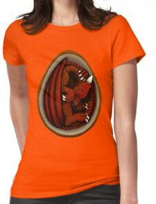 Dragon Egg - Red and Orange Womens Fitted T-Shirt