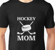 Cool, Bold Hockey Mom Logo - White on Black Items Unisex T-Shirt
