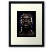 Jon Jones (Superimposed) Framed Print