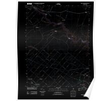 USGS TOPO Map New Jersey NJ Green Bank 20110426 TM Inverted Poster