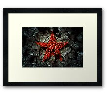 Red Star Of Chernobyl Framed Print