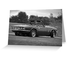 Triumph Spitfire Greeting Card