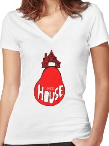 House Poster Tee (1977 Japanese film) Women's Fitted V-Neck T-Shirt