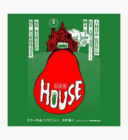 House Poster Tee (1977 Japanese film) Photographic Print