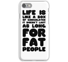 Fat People Humour Funny Joke Dark Clever Comedy iPhone Case/Skin